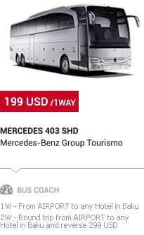 Baku Transfer: Mercedes Bus